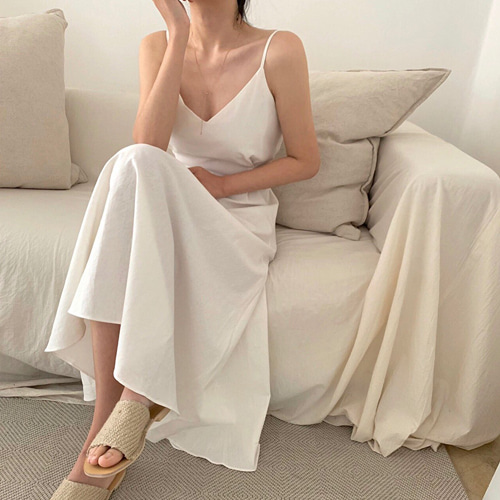 Jenny linen ribbon one piece (2color)