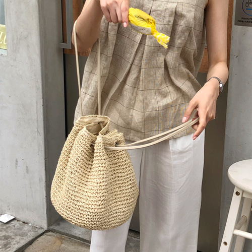 Sand bucket bag (2color)