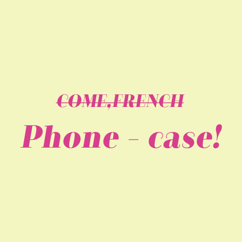 [빠른발송] Comef,french phone-case!