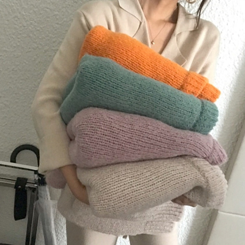Candyfloss alpaca knit (8color)