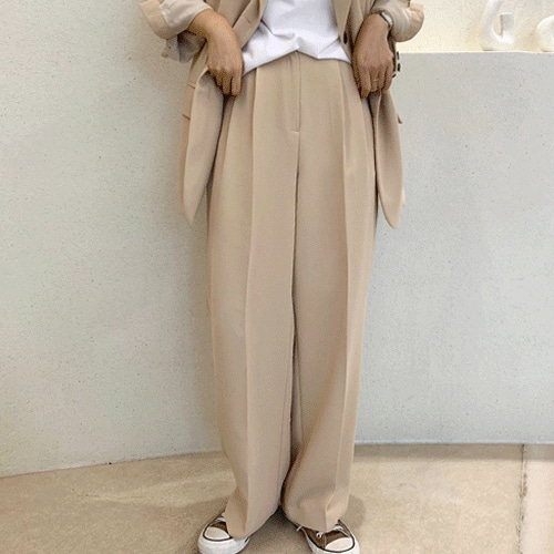 Iken slacks (2color / 뒷밴딩)